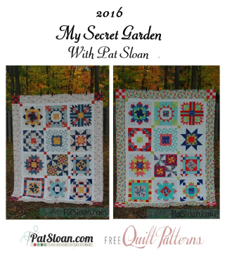 Pat Sloan final secret garden quilts full