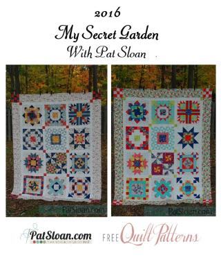 Pat Sloan final secret garden quilts full