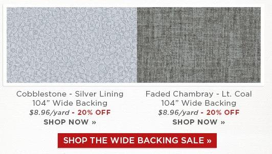 Backing sale