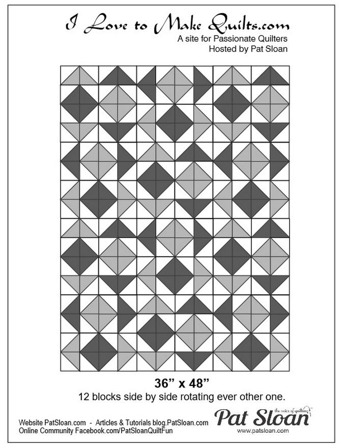 Pat Sloan Block 18 repeat quilt Solstice Challenge