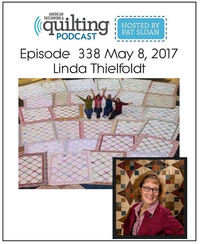 American Patchwork Quilting Pocast episode 338 Linda Thielfoldt