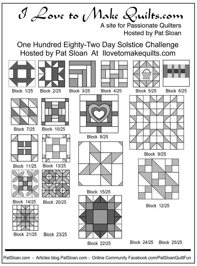 1 Pat Sloan 1 to 22 Solstice Block collage