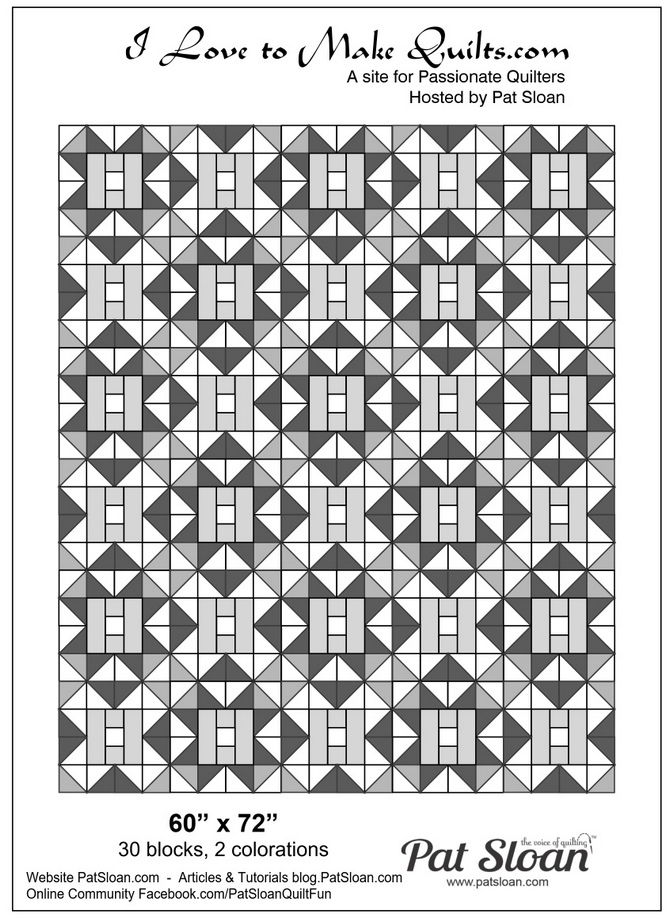 Pat Sloan solstice block 24 of 25 repeat block