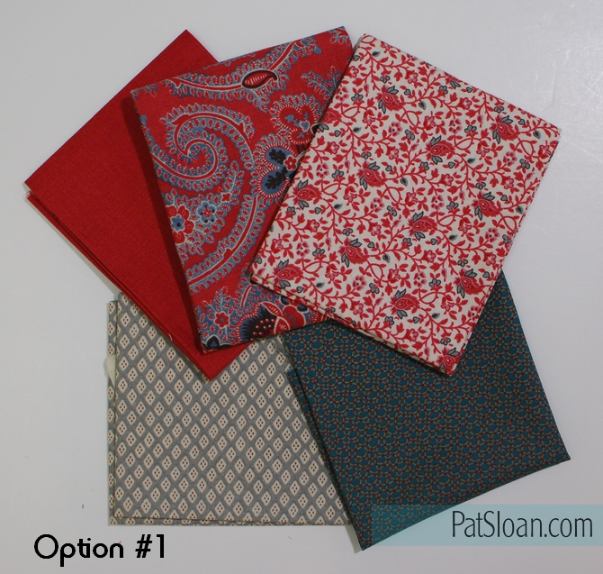 Pat Sloan block 6 option 1 fabric