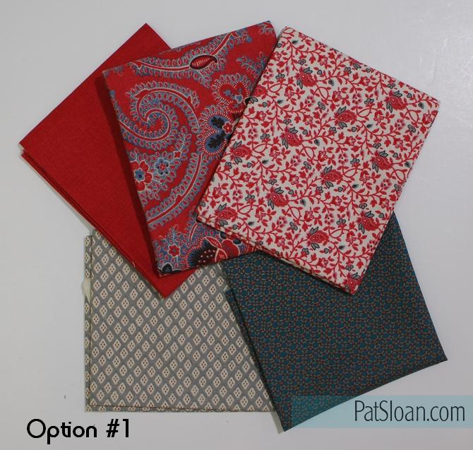 Pat Sloan block 6 option 1 fabric