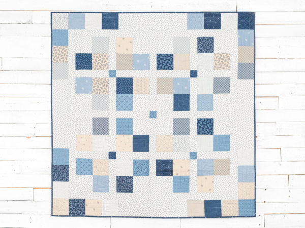Town square free pattern blue