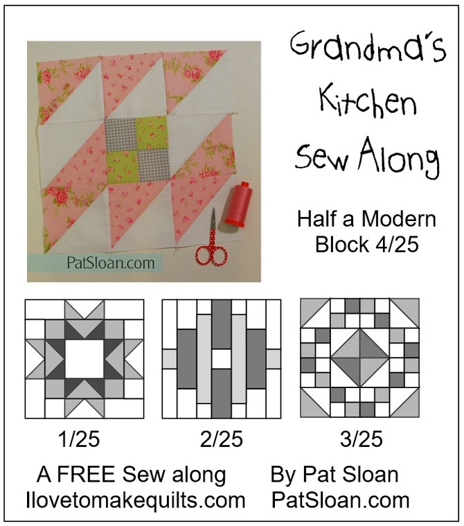 Pat Sloan Block 4 Grandmas Kitchen button