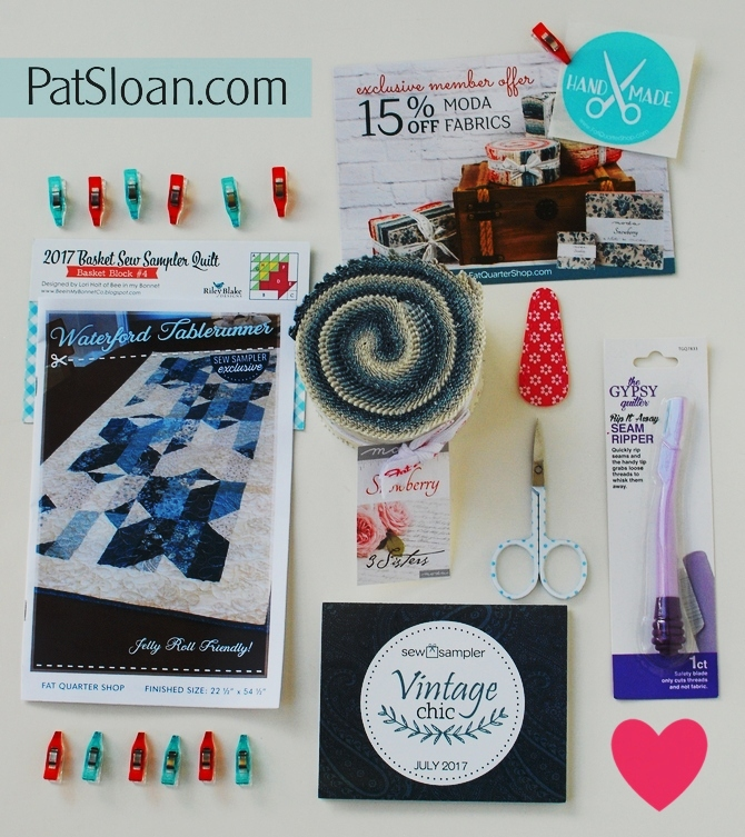 Pat Sloan Sew Sampler july 2017 1
