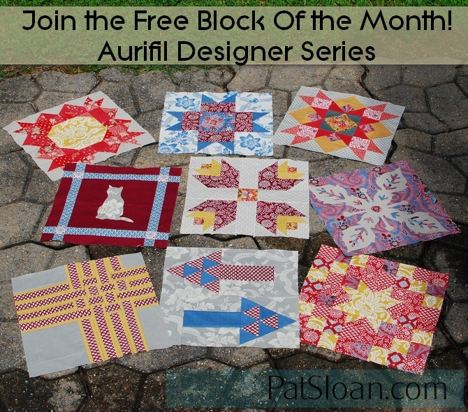 Pat sloan aurifil blocks 1 to 9