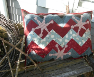Finished pillow on porch