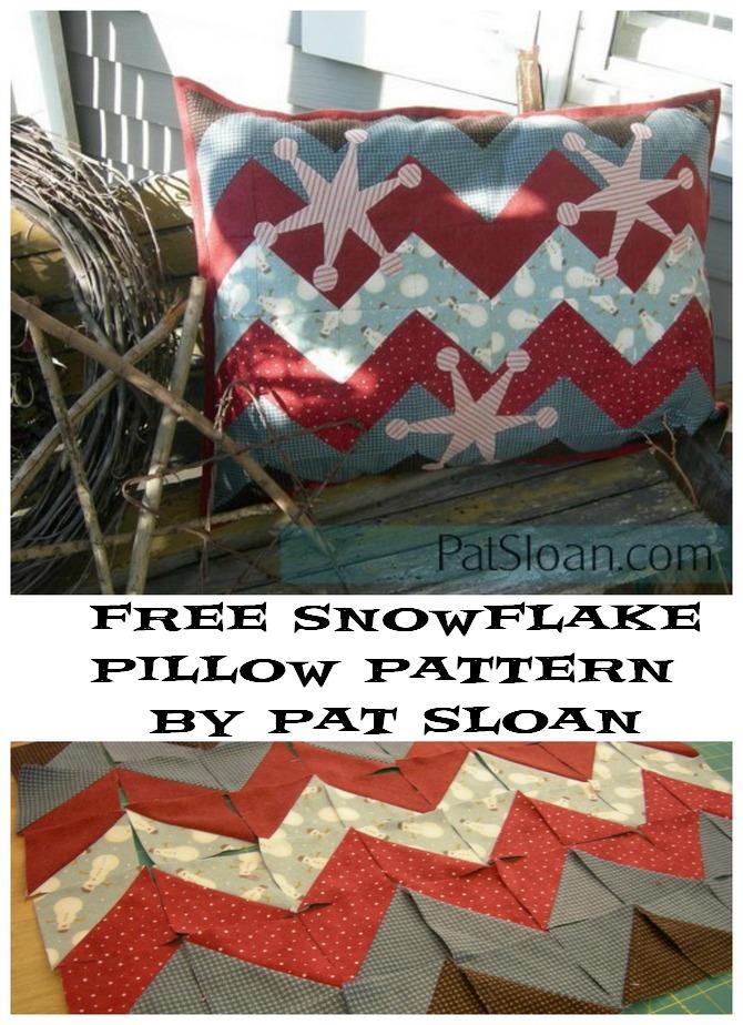 Pat Sloan Snowflake pillow pattern