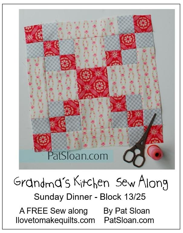 Pat Sloan Block 13 directions Grandmas Kitchen banner