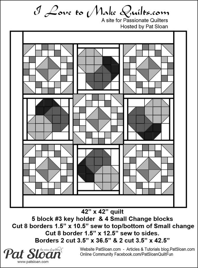 Pat Sloan Block 16 quilt option Grandmas Kitchen