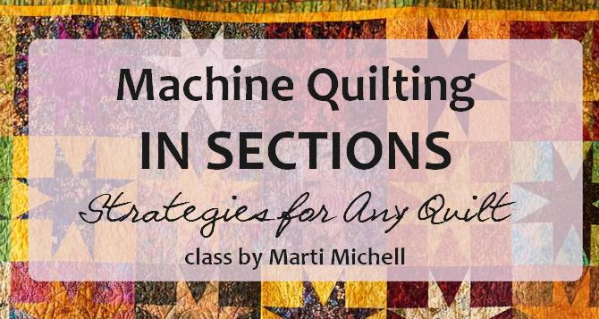 How to machine quilt in sections