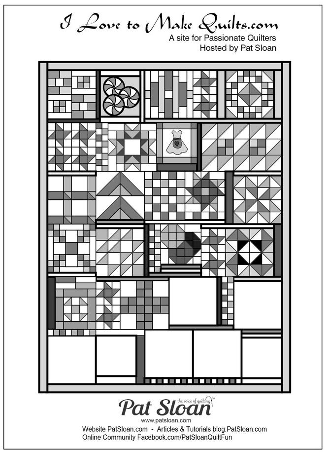 Pat Sloan Block 18 layout position Grandmas Kitchen banner