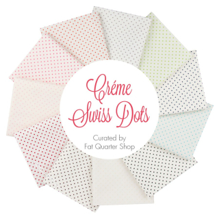 Creme swiss dots