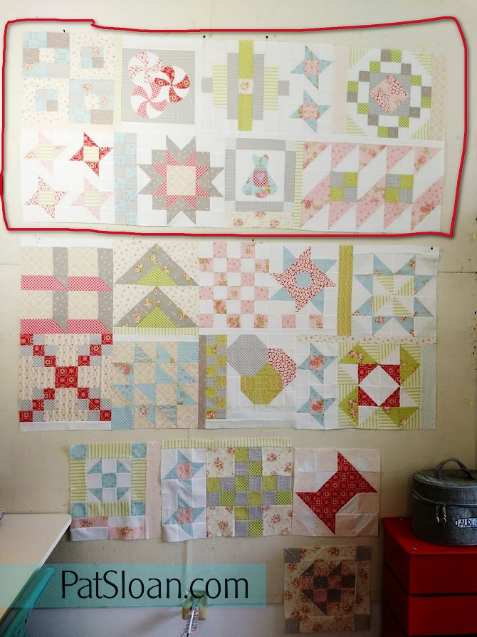 Pat sloan Quilt As You go sections pic 5