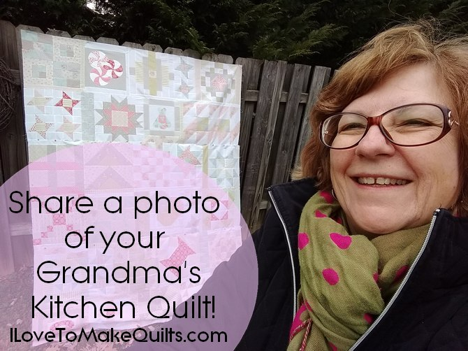Pat sloan grandma kitchen quilt share photo button