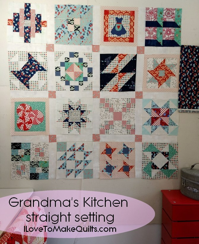 Pat Sloan Grandma Kitchen blue red white version