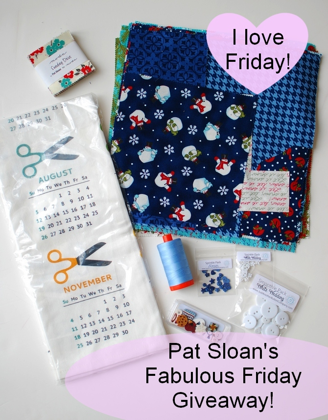 Pat Sloan fabulous fri giveaway dec 29
