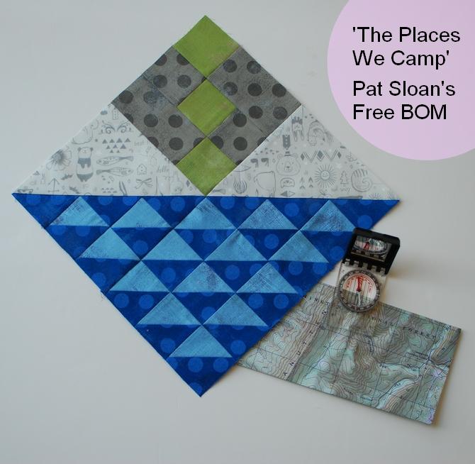 Pat Sloan Lets Go Camping block 1 compass