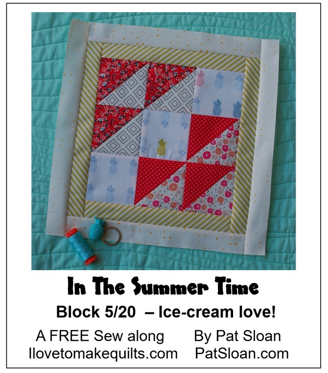 Pat Sloan Block 5 In the Summer Time banner
