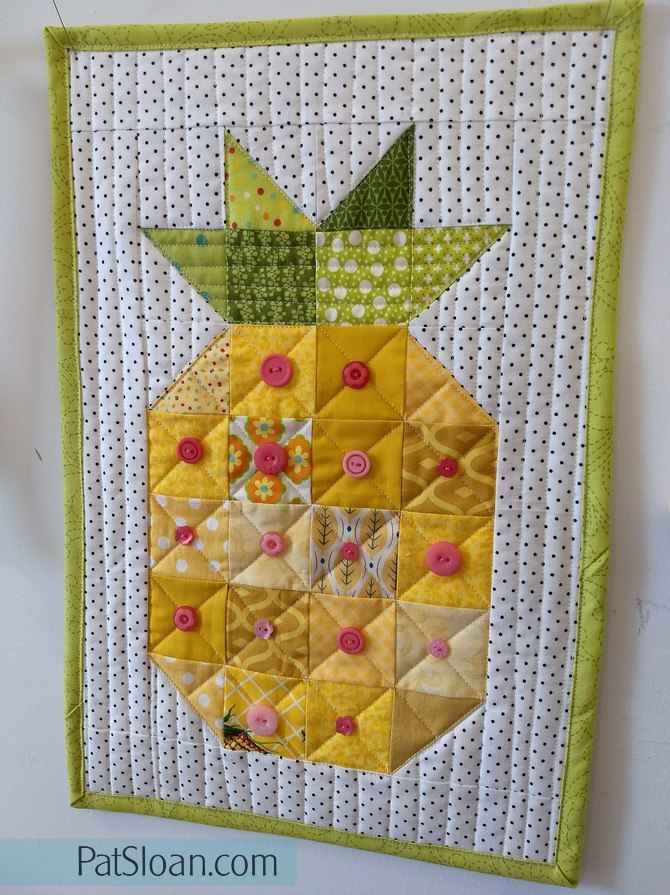 Pat sloan pineapple with buttons 3