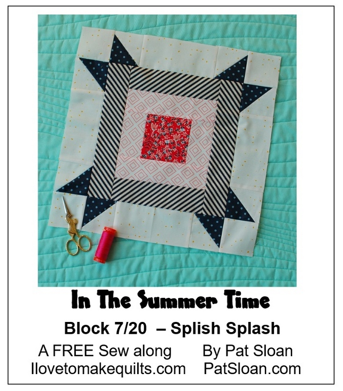 Pat Sloan Block 7 In the Summer Time banner