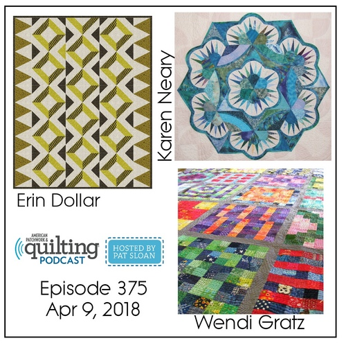 2 American Patchwork Quilting Pocast episode 375 Apr 9 2018