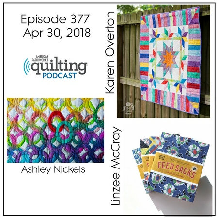 2 American Patchwork Quilting Pocast episode 377 Apr 30 2018