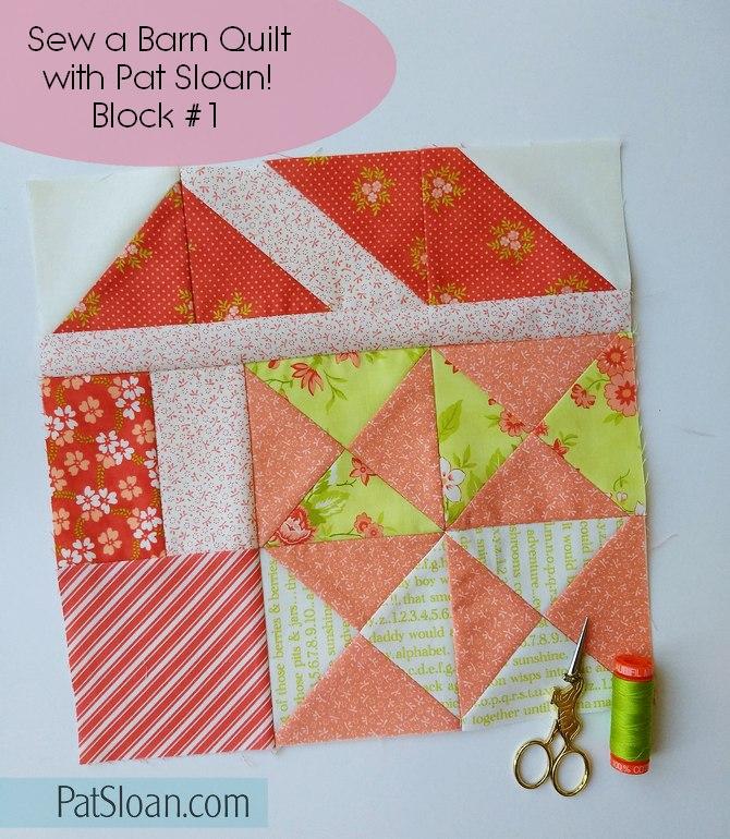 Pat Sloan Sew Sampler Barn Quilt block 1