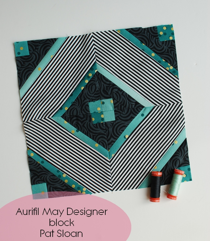 Pat sloan May 2018 Aurifil DOM block