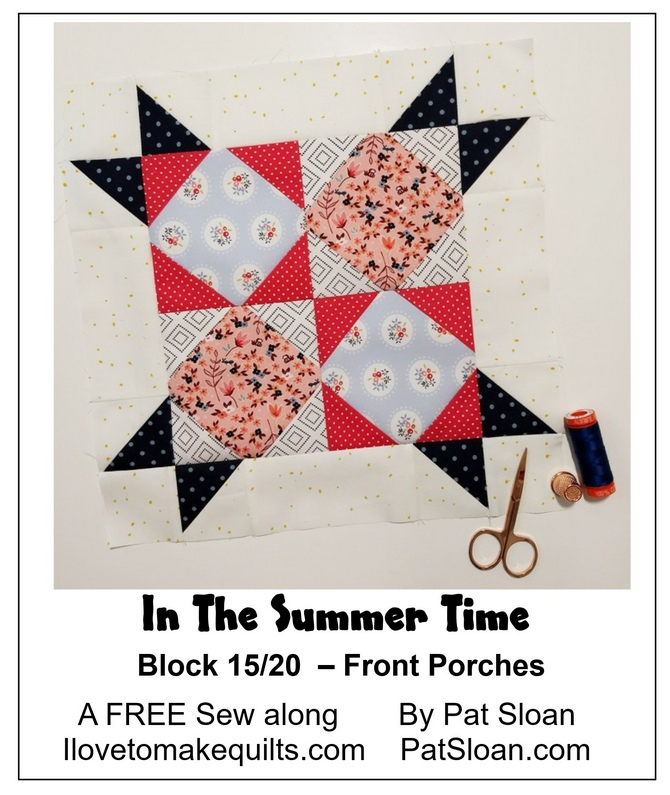 Pat Sloan Block 15 directions In the Summer Time banner