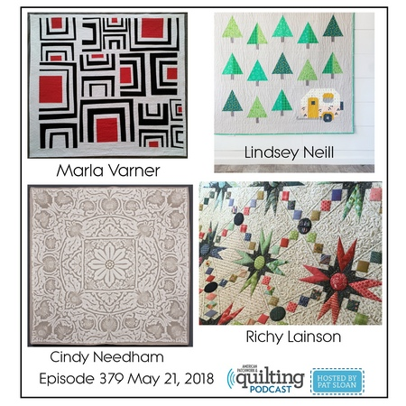 2 American Patchwork Quilting Pocast episode 379 May 21 2018