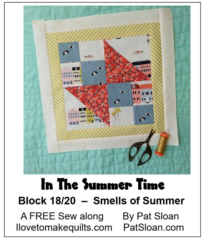 Pat Sloan Block 18  In the Summer Time banner