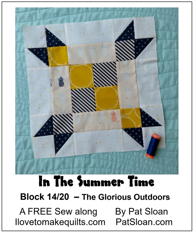Pat Sloan Block 14 directions In the Summer Time banner