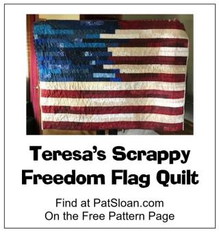 Pat Sloan Teresa Free Flag Pattern banner