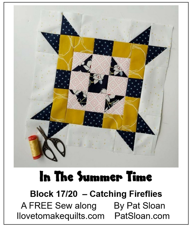 Pat Sloan Block 17  In the Summer Time banner