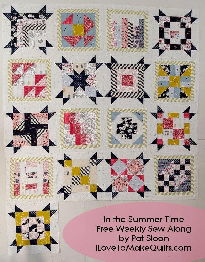 Pat Sloan Block 17  In the Summer Time blocks
