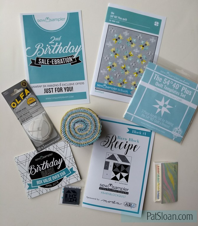 Pat Sloan Sew Sampler April 1