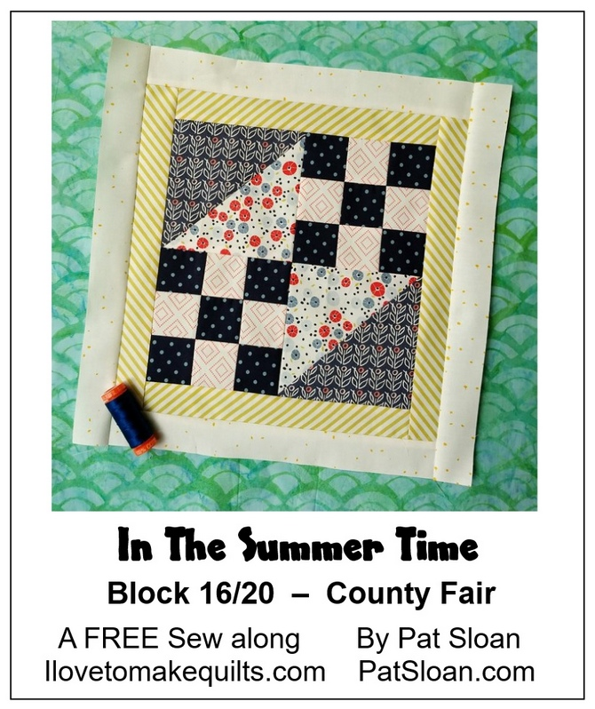 Pat sloan In the summer time block 16 banner