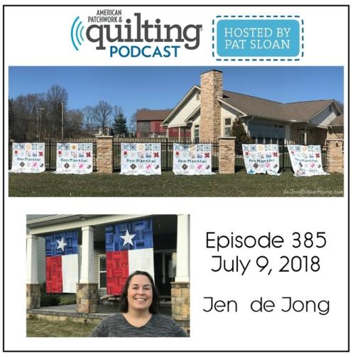 American Patchwork Quilting Pocast episode 385 Jen de Jong