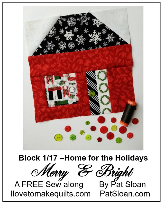 Pat Sloan Block 1 Merry and Bright button