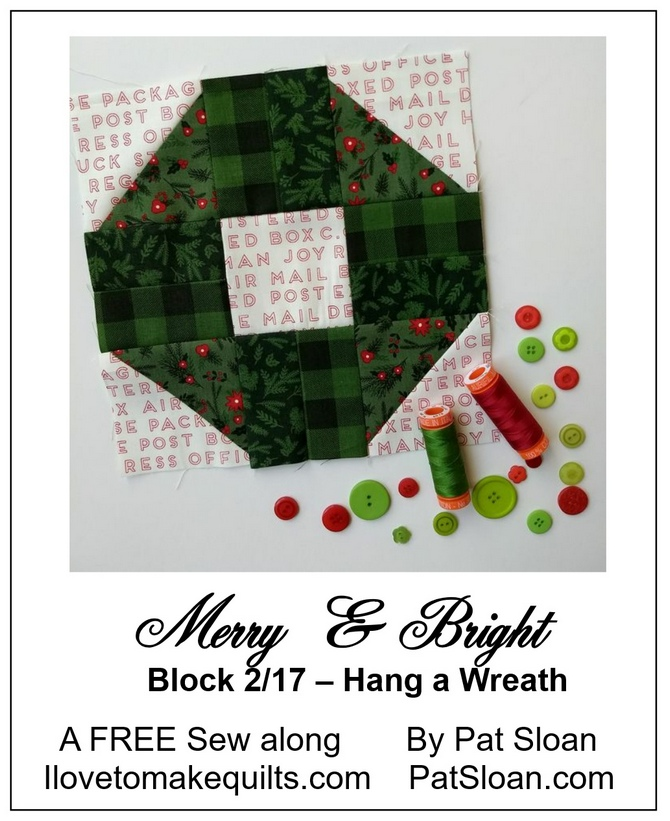 Pat Sloan Block 2 Merry and Bright button
