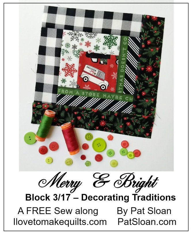 Pat Sloan Block 3 Merry and Bright button