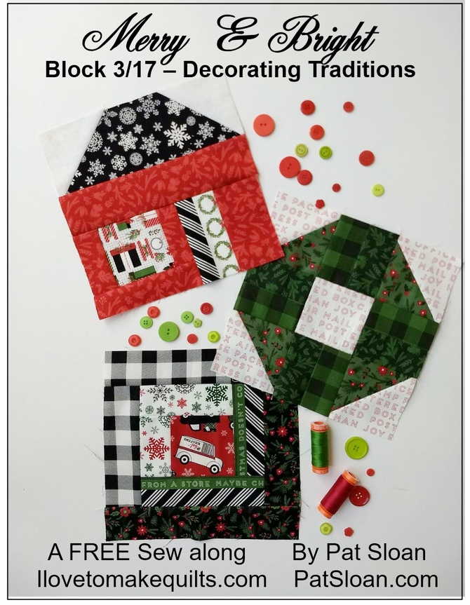 Pat Sloan Block 1 to 3 Merry and Bright button