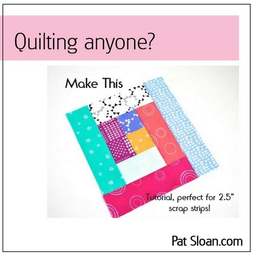 Pat sloan bluprint quilt article button