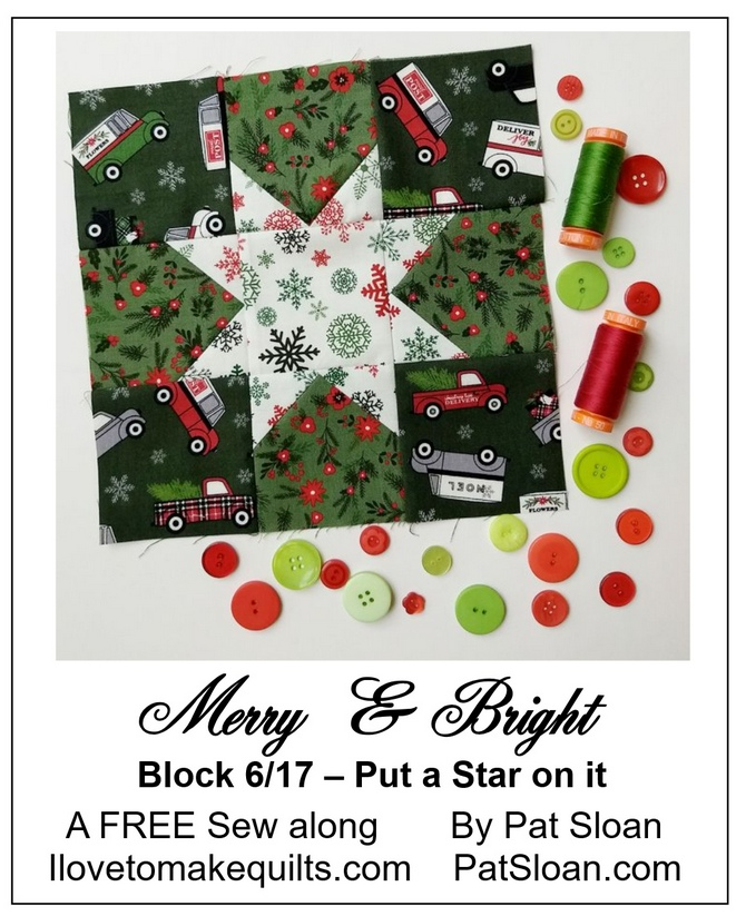 Pat Sloan Block 6 Mery and Bright button