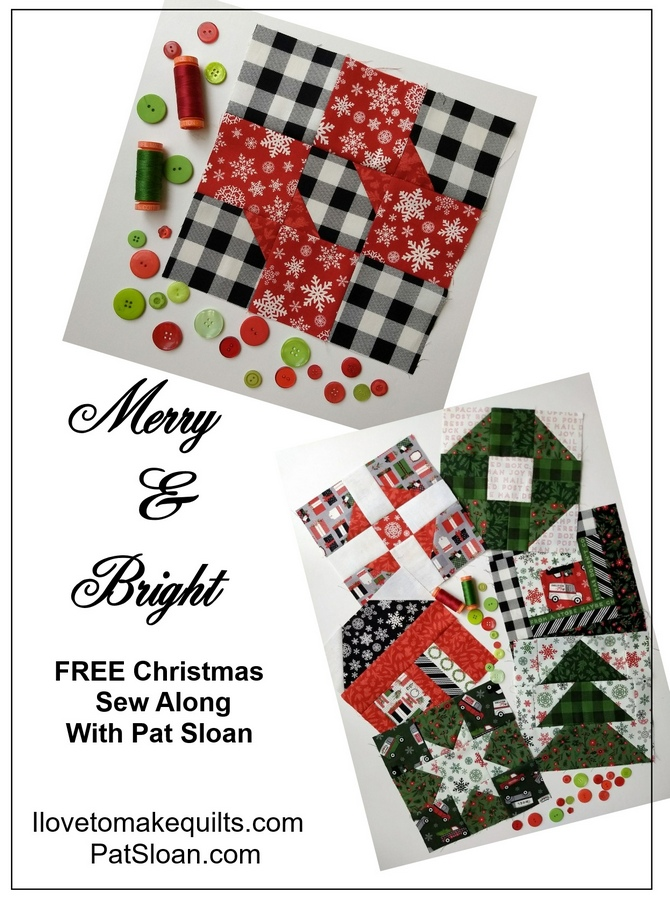 Pat Sloan Block 7 Merry and Bright project button