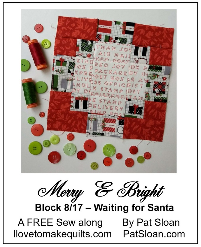 Pat Sloan Block 8 Merry and Bright button